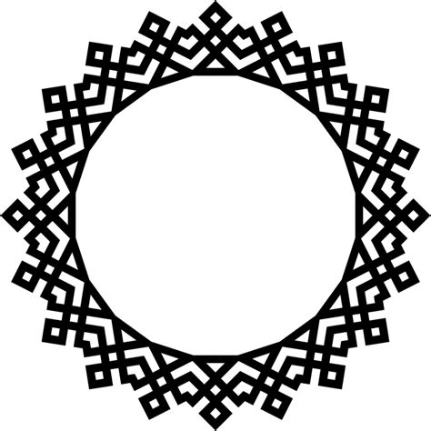 Decorative Frames Clipart Abstract Geometric Frame 3