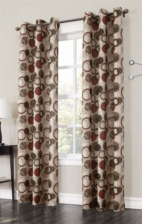 brown curtains with circles 17 best images about sliding door curtains on pinterest