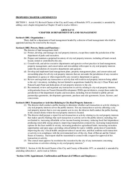 city and county of honolulu section 8 proposed charter amendment 08