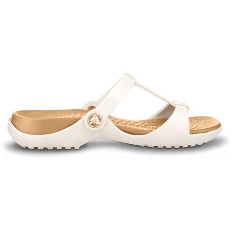 croc sandals crocs crocs cleo iii oyster gold sc5 sandal