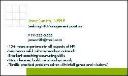 seeker business cards exles professional development members in transition