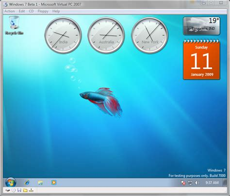 Desktop Bar On Top by Sharad Kumar Windows 7 Beta 1 Preview Top Features