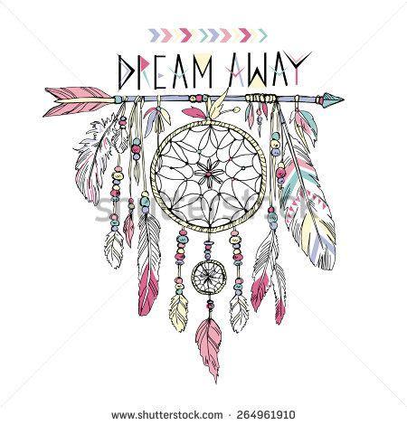 dream catcher tattoo vector hand drawn illustration of dream catcher native american