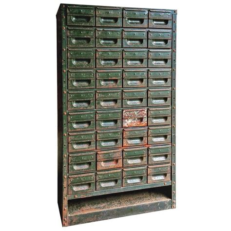 Industrial Steel Chest Cabinet Mid Century 36 Drawers Loft