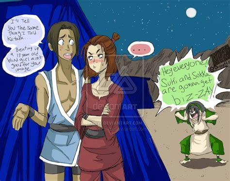 Getting To Suki by Suki And Sokka Search Avatar Legend Of Korra