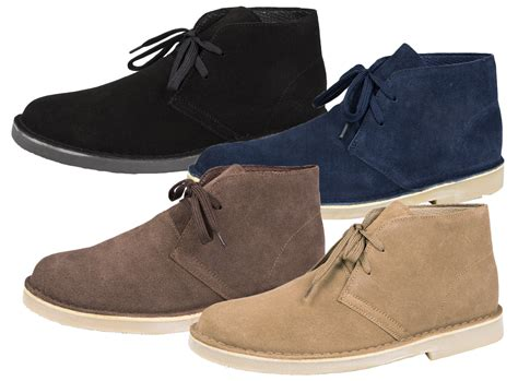 desert boots mens boys suede leather lace up desert boots ankle