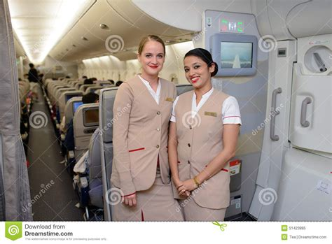 Emirates Cabin Crew Salary 2014 by Emirates Crew Members In Airbus A380 Aircraft Editorial Image Image 51423885