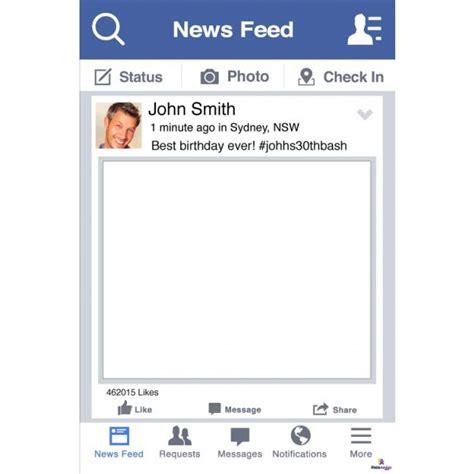 design frames for facebook personalised facebook selfie frame large 110cm x 80cm