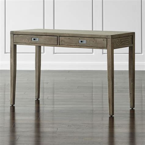 Crate And Barrel Writing Desk by Morris 48 Quot Ash Grey Writing Desk Crate And Barrel