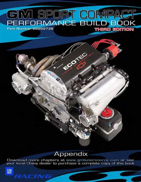 The Sports Book 3rd Edition gm sport compact performance build book 3rd edition