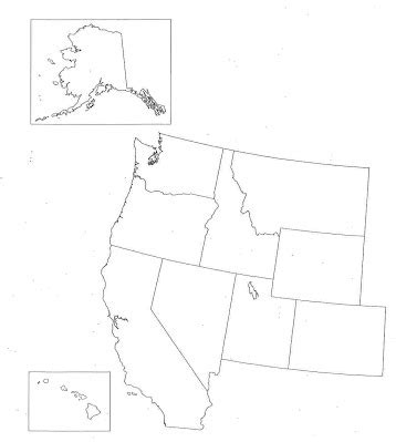 blank us map of western states states and capitals mr donahue mckelvie intermediate