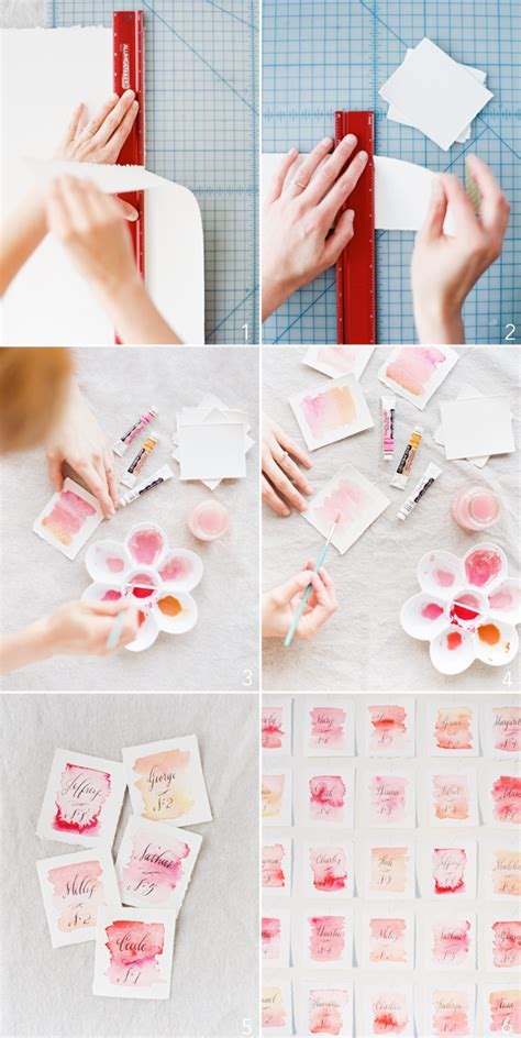 how to diy wedding place cards diy wedding watercolor cards once wed