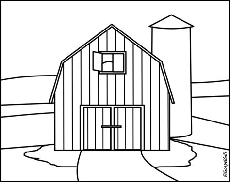 easy barn coloring pages black and white cartoon barn christian clip art