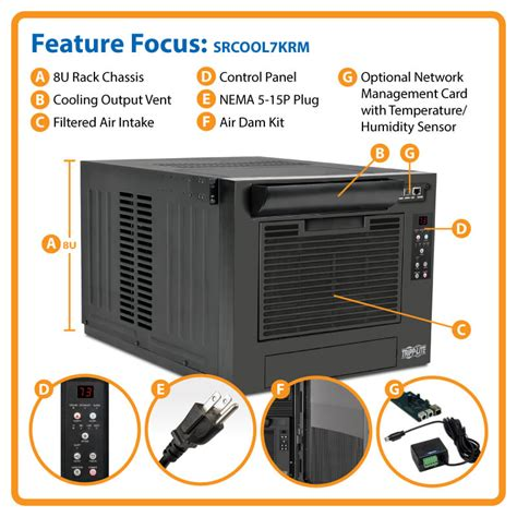 air conditioned rack smartrack 7000 btu 120v rack mounted air conditioning unit
