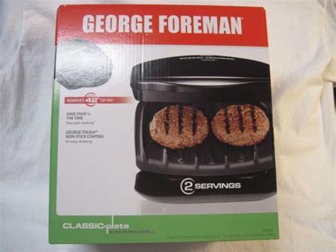 george foreman gr10b grill ch electrics kitchen george foreman grill gr10b classic plate 2 serving grill