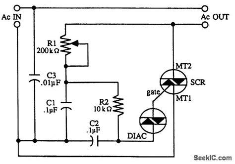 triac motor control circuit control circuit circuit