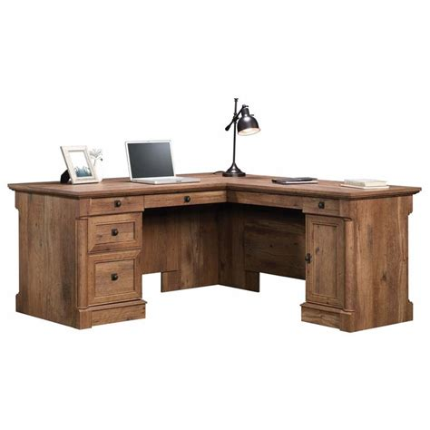 Large L Shaped Computer Desk Oak L Shaped Computer Desk Sauder Palladia Vintage Oak L Shaped Computer Desk 420606 Big