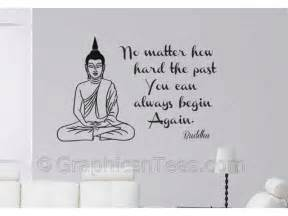 buddha inspirational quote begin again wall art mural motivational quote removable wall stickers room decoration