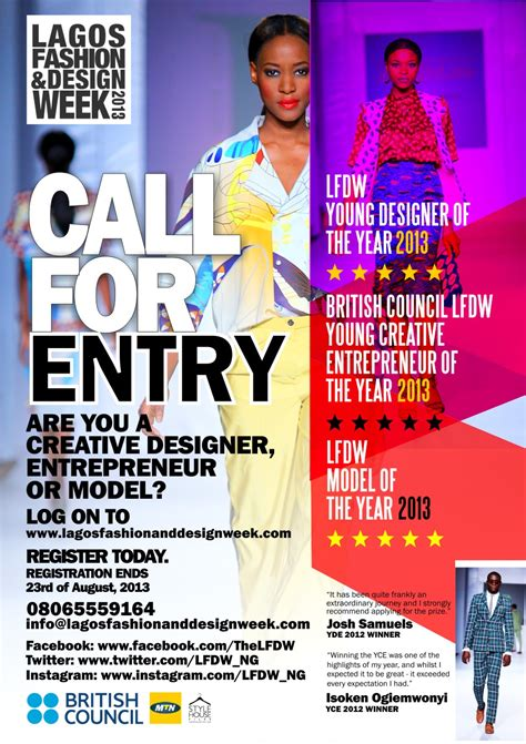 design week competition lagos fashion and design week open entries for the young