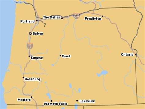 map of oregon washington border oroads the mt freeway