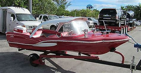 deck king boat sea king boats 1959 red fish antique classic boat