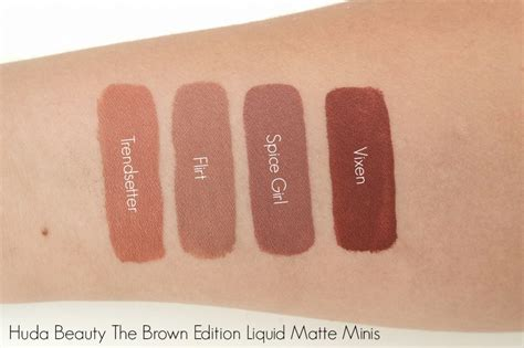 Huda Liquid Matte Minis The Brown Edition huda the brown edition liquid matte minis the