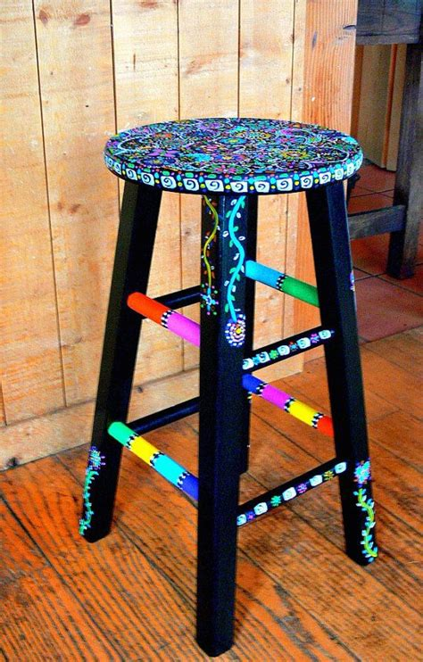 how to paint a bar stool best 20 hand painted stools ideas on pinterest