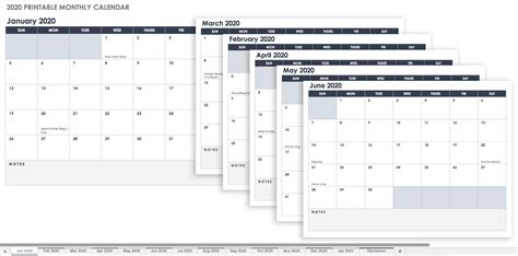 blank calendar templates smartsheet