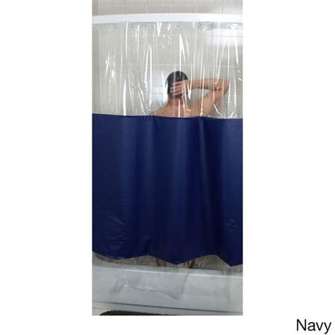 peek a boo shower curtain rujan peek a boo standard hang shower curtain solid color