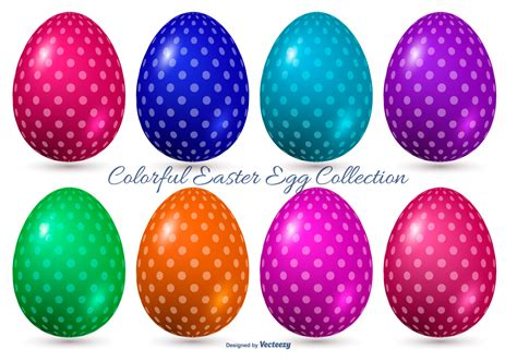 colorful easter eggs colorful vector easter eggs free vector