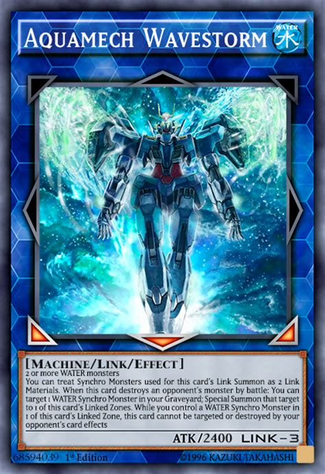 Yu Gi Oh Link Card Template by Aquamech Wavestorm Link New Image Template