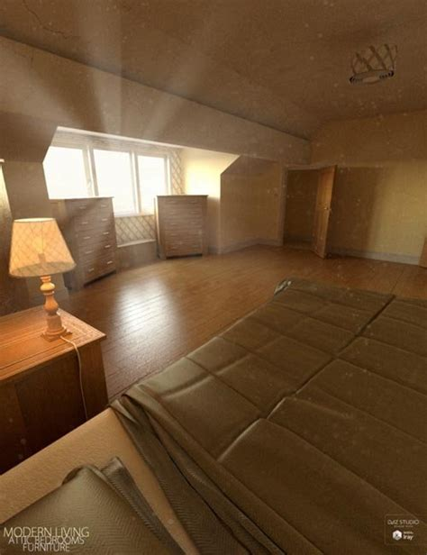 Modern Living Attic Bedroom Furniture 187 Daz3d And Poses Attic Bedroom Furniture