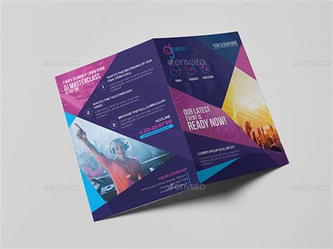 dj a5 brochure template by wutip2 graphicriver