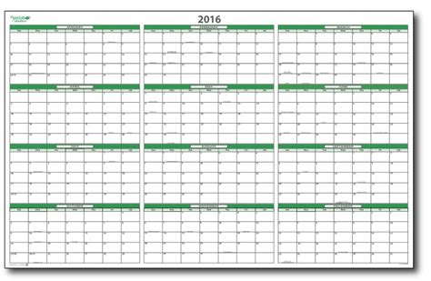 2016 monthly wall planner printable 5 best images of 2016 wall calendar printable 2016