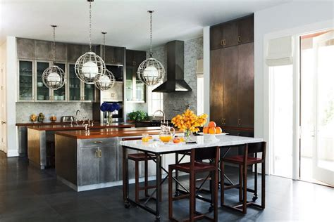 industrial kitchen cabinets metal kitchen cabinets eclectic kitchen nate berkus