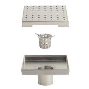 werner square shower drain bathroom