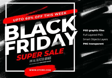black friday sale  advertising instagram template