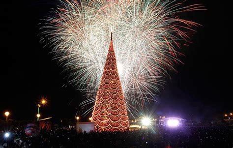palawan philippines fireworks light the sky near a giant