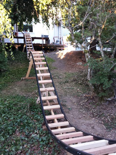 back yard roller coaster retired aerospace engineer builds a backyard roller
