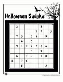 printable junior sudoku grade 4 halloween worksheet double puzzle word puzzle
