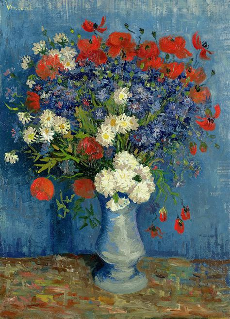 Gogh Vase With Flowers by Artists Vincent Gogh Flowers Part 2