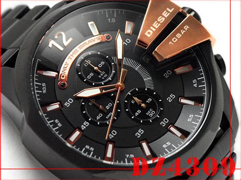 Diesel Move Black Rosegold 1more rakuten global market diesel chronograph black x gold ip black