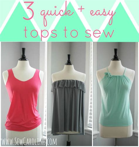 Sew Top by Sew Caroline Tutorial For Three Easy Summer Tops