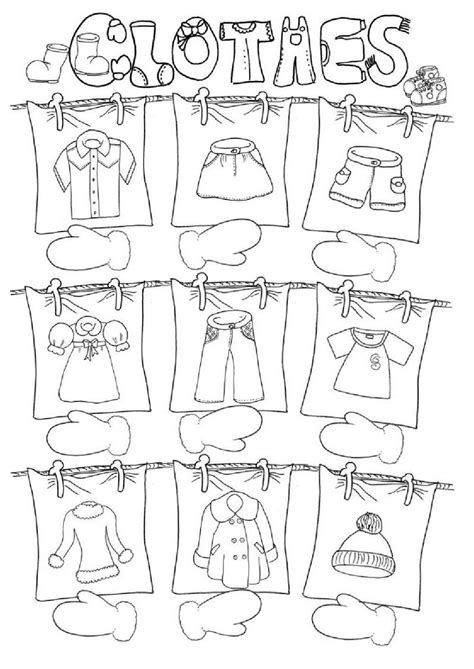 clothes interactive worksheet clothes