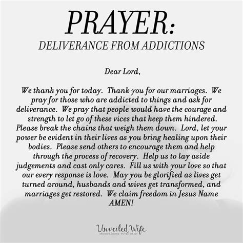 prescription for a testimony of deliverance from drugs and addiction books prayer of the day deliverance from addictions