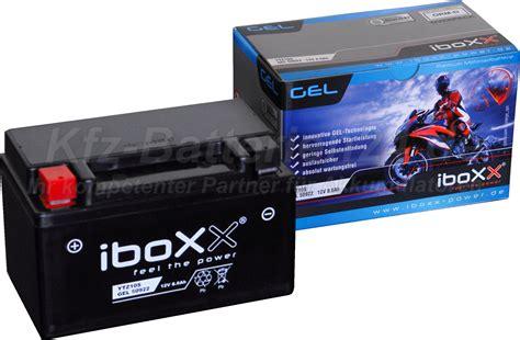 Motorradbatterie 6 Ah gel motorradbatterie 12v 8 6ah 50922 ytz10 s ctz10s