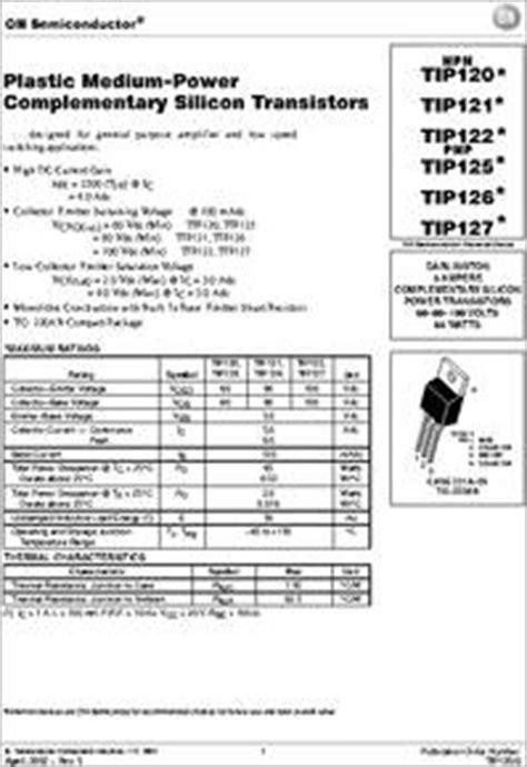 transistor tip127 datasheet tip127 datasheet designed for general purpose lifier and low speed
