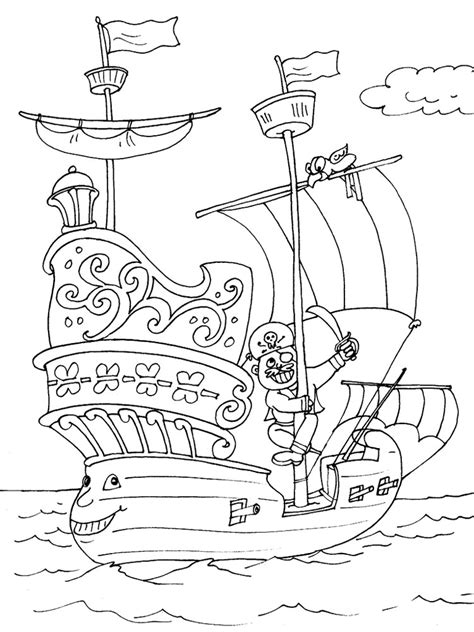 Pirate Ship Coloring Page by Pirate Ship Coloring Pages Free Printable Pirate Ship