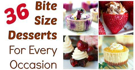 bite size desserts   occasion