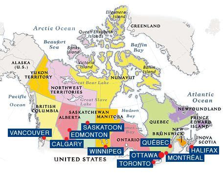 map of canada with cities canada map with cities world map 07
